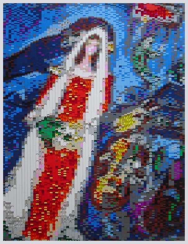 Marc Chagall\'s La Mariée in LEGO